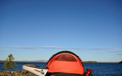 Camping by Kayak, Bike or Backpack