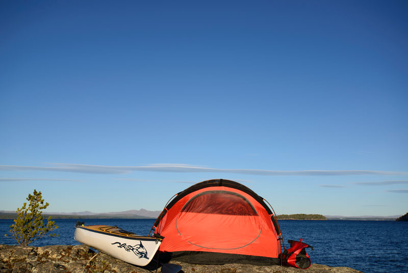 Camping by Kayak, Bike or Backpack