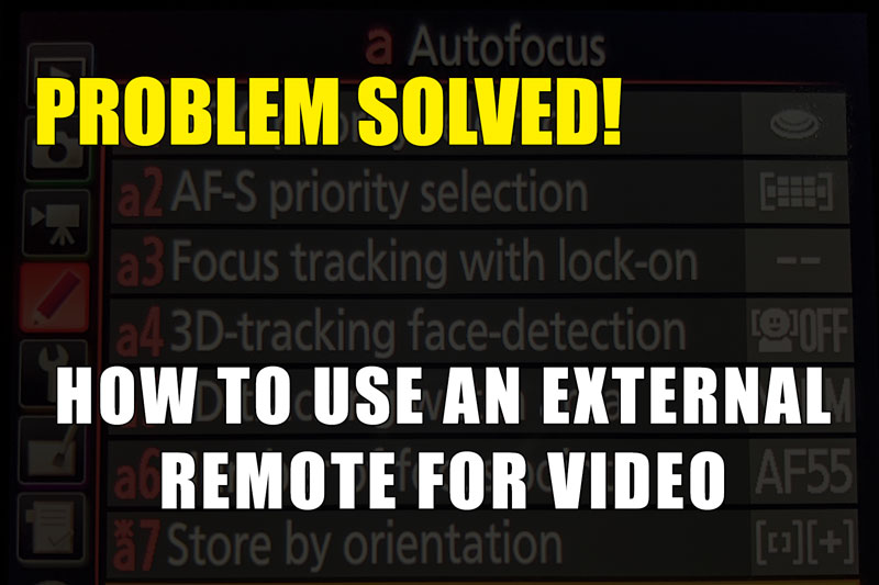 How to use an External Remote for Video