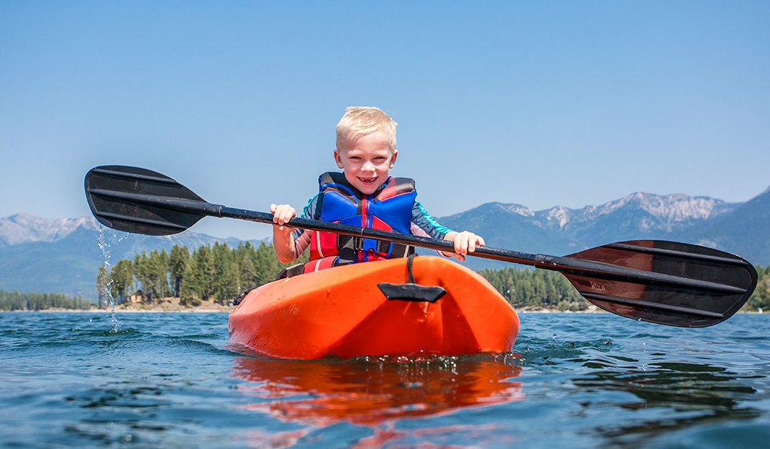 Kids Kayaking Solo