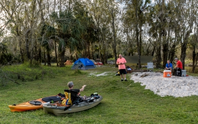 Camping by Kayak, Bike, Paddle Board or Backpack